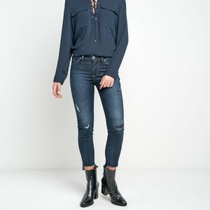 Silver Jeans Bleecker Jeggings Distressed Ankle